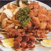 唐揚串焼き盛¥4200