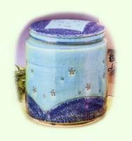 特選骨容器 / 青彩桜紋