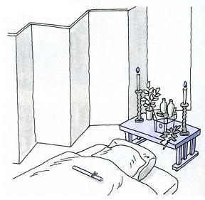 葬儀への手順イラスト